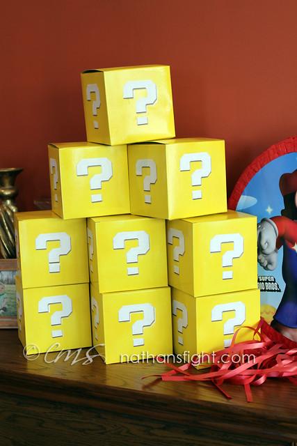 super mario mystery block favor boxes