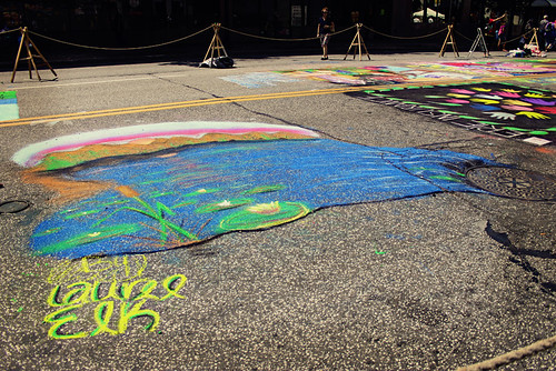 Celebrate Erie chalk art by Make Way For Cupcakes
