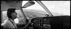 Jun Shimada (Freedom Air) on aproach to Tinian (heritagefutures) Tags: portrait panorama self freedom air wideangle shoko widelux cherokee piper northern six ultra commonwealth mariana jun saipan f6 spn tinian shimada panon pa32 tiq f6b