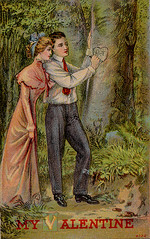 Turn of the Century Valentine (profkaren) Tags: love couple postcard valentine romance