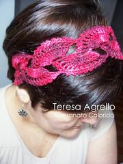 madeixas com estilo (Teresa Agrello - Artesanato Colorido) Tags: linhas crocheted tiaras crochê domingo21ago11