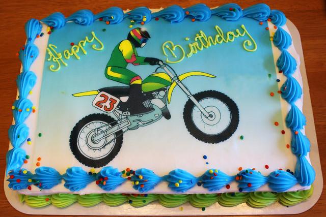 Motocross Cake Designs
