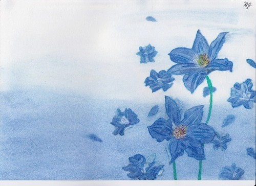 Blue Flower-painting