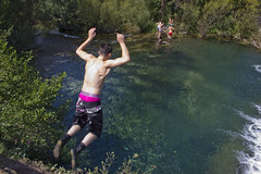 River Agly, St Paul de Fenouillet (LeeHoward) Tags: family summer water swim jump pyreneesorientales