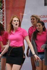Edinburgh Fringe Festival 2011: In the Pink (chairmanblueslovakia) Tags: street city pink black festival female scotland high edinburgh university all dress stage capital royal scottish fringe mini virgin oxford harmony fabulous mile acapella the in 2011 acappla