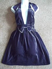 Ruby Plaza Juicy Couture Berry Noir Velvet Halter Dress (Ruby Plaza) Tags: fashion dresses tops blouses newfashion maxidresses