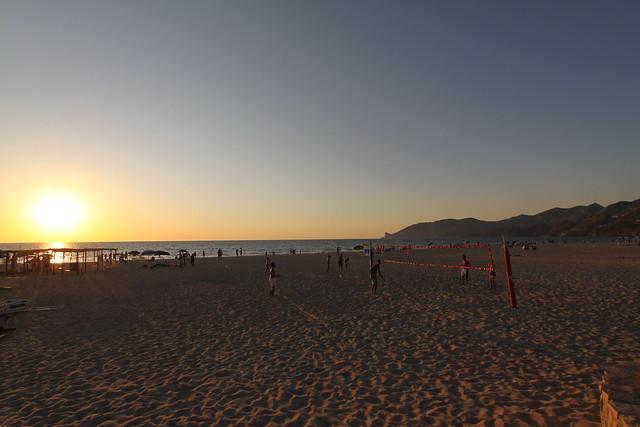 Sunset at the Golfo di Gonnesa, 15 km west of Iglesias on Sardinia's southwest coast...
