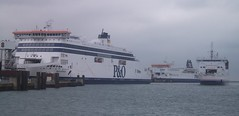 P&O Ferries Spirit of Britain & Pride of Burgundy and Seafrance Nord Pas De Calais.
