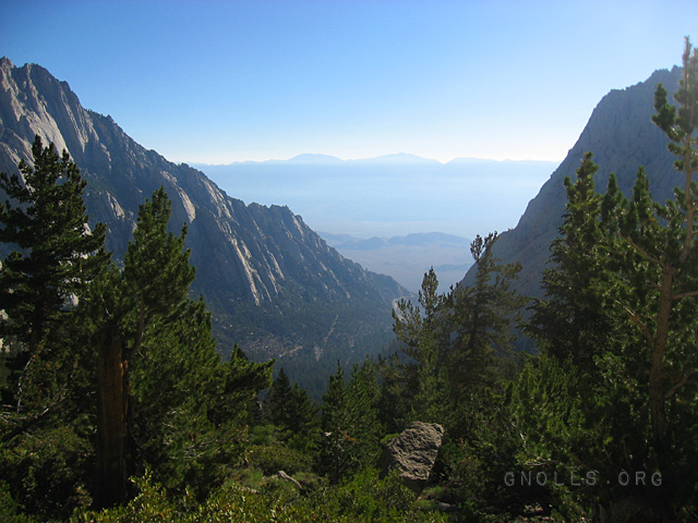 Looking down at Whitney Portal