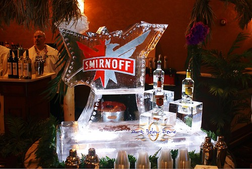 Smirnoff Vodka Luge ice sculpture