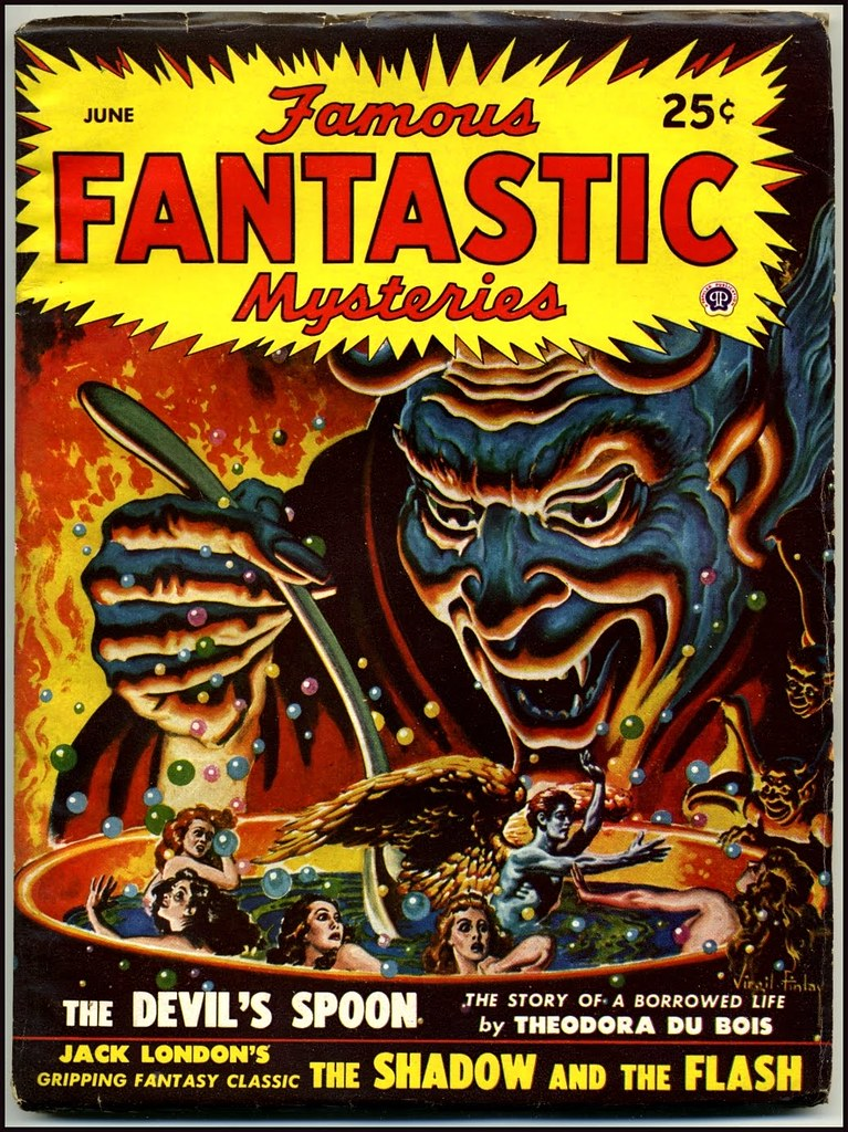 Virgil Finlay - Famous Fantastic Mysteries, June 1948
