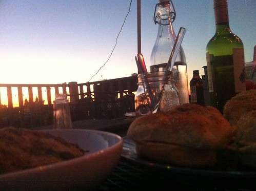 Rooftop dinner