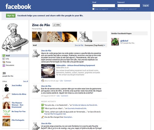 Zine de Pão Facebook page screenshot