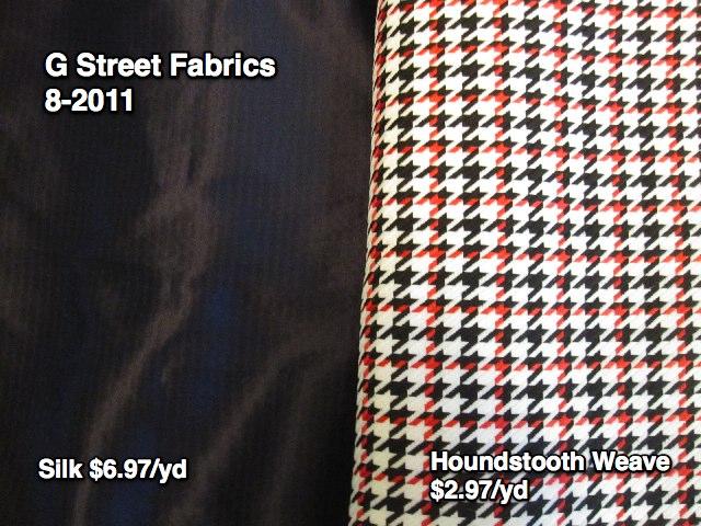 G Street Fabrics, 8-2011