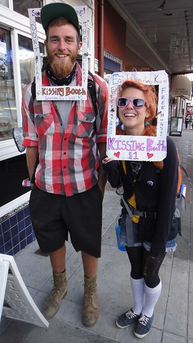 Kissing Booth Couple on Castro by friedmanlynn