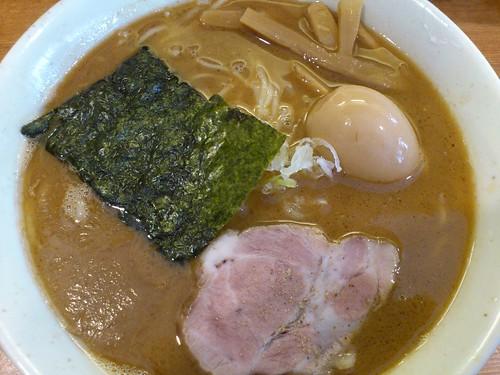 ra110831麺屋 清水 らーめん中盛 味玉