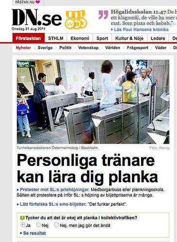 startsida på DN.se 31:a augusti 2011