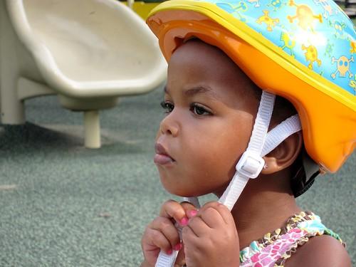 zinashi in her helmet
