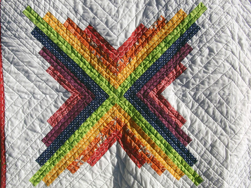 Color Burst Quilt (front detail)
