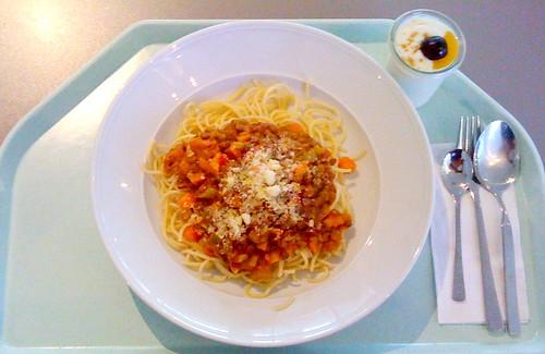 Spaghetti mit Balsamico-Linsen / Spaghetti with balsamico lentils