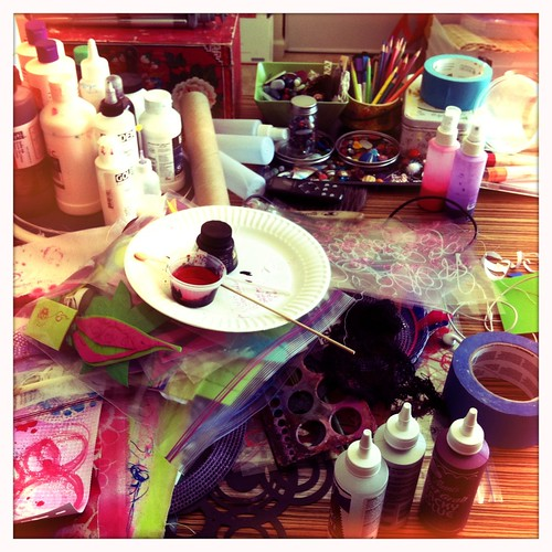 messy...playing...painting.