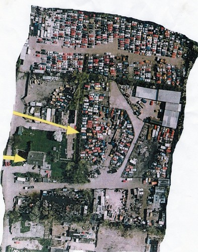 Map of scrap yard before its purchase by Dale Farm