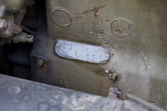 M3A1 Halftrack engine serial number detail (RLB Photography) Tags: wisconsin army military vehicle wi oshkosh halftrack hmv militaryvehicle m3a1