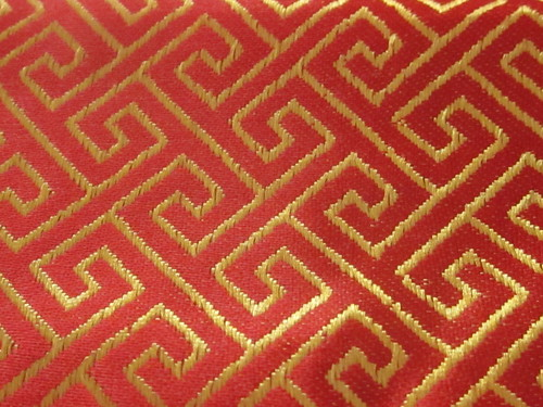 Red and Gold Asian Textile Pattern