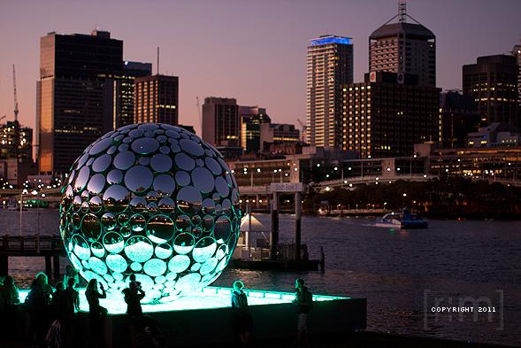 Brisbane Festival 2011 - Golden Casket Light Sphere