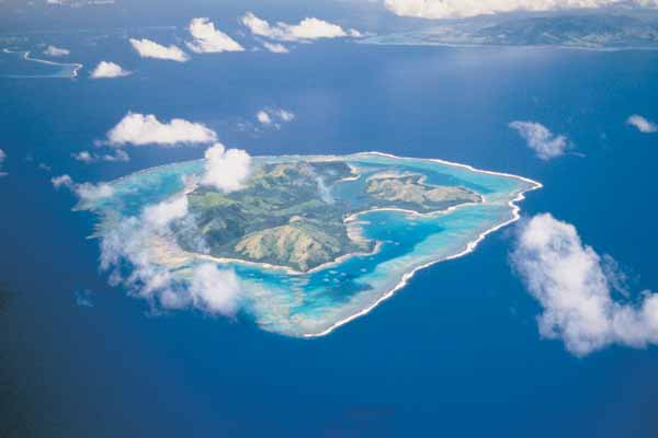 Aerial Shot of Fiji - Flight Centre NZ