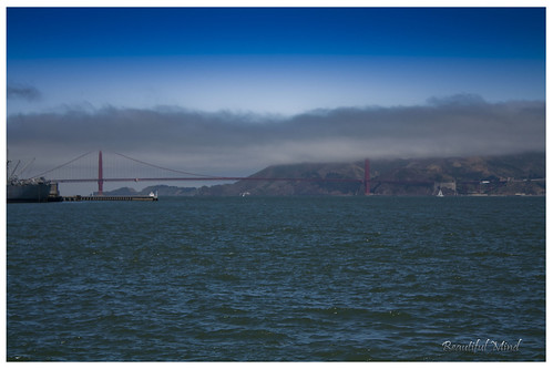 Golden gate bridge- covered by fogs