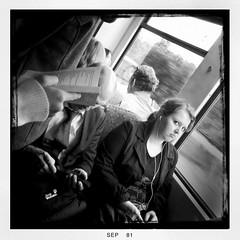 public transport... (andrealinss) Tags: people blackandwhite bw white black berlin menschen sbahn publictransport schwarzweiss iphone fahrgast ffentlicherverkehr publictransportpassenger hipstamatic andrealinss