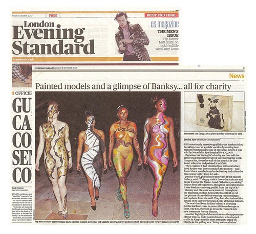 Evening Standard, Art Of Giving at The Saatchi Gallery, Page 3, 10/10