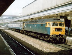Exeter St Davids, 26th June 1990, 47096 (elkemasa) Tags: 1990 exeterstdavids class47