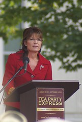 Sarah Palin, looking out