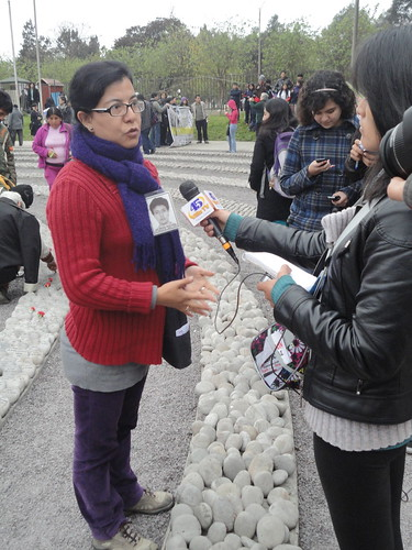 EPAF's Gisela Ortiz being interviewed on the need for a national plan for the search of the disappeared
