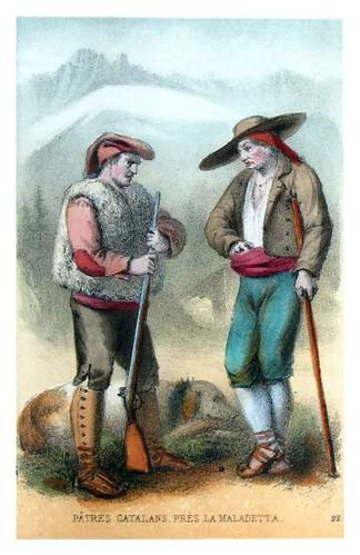 012-Pastores catalanes cerca dela Maladetta-Costumes pyrénéens-1860
