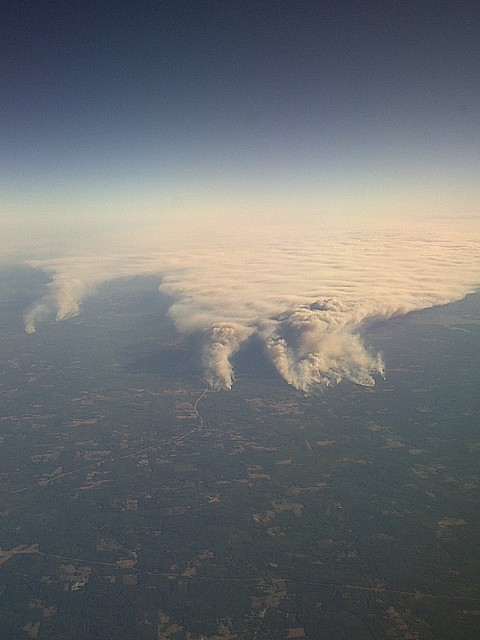 Fires over east Texas