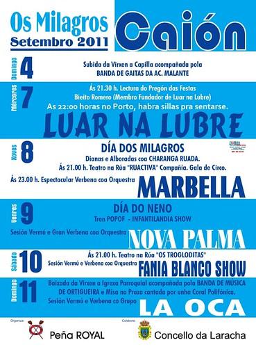 A Laracha 2011 - Festas dos Milagres de Caión - cartel