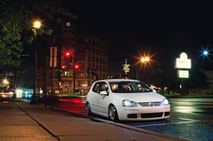Night on the Town (Ronaldo.S) Tags: road rabbit vw night town nikon long exposure open riverside f14 air sigma tokina tuning slammed 30mm d90 sb700