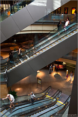 Three levels (Jeremy Thomas Photography) Tags: birthday 2 two 3 up digital 35mm canon mall shopping lens eos prime three high exposure raw day afternoon dof angle bokeh mark 5 f14 quality escalator wide down sharp full moms ii frame definition l 5d fixed hd usm escalators dslr oaks 35 ef levels galleria sherman def lightroom fijizzle