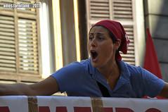 CGIL - Roma 6 settembre 2011 - 8 (farnitano.amos) Tags: city red portrait people italy woman rome roma girl donna nikon europa europe italia colore gente protest rosso ritratto ragazza citt cgil