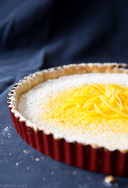 lemony rice tart