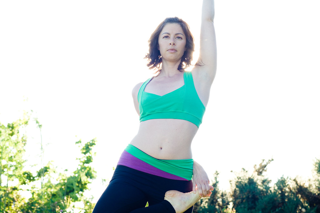 Yoga pose in Organic Yoga Clothing
