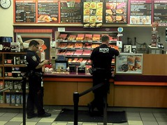 Cops in a Doughnut Shop 2011 Shankbone
