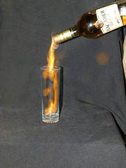 Bacardi on fire