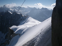 col du midi, mont blanc, france (jonathan tait - Photography) Tags: snow france mountains alps expedition altitude climber montblanc mountaineer aguilledumidi coldumidi adventurephotographer mountainphotographer