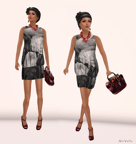 DONNA FLORA PUFFY DRESS MESH 2 by Alii Vella