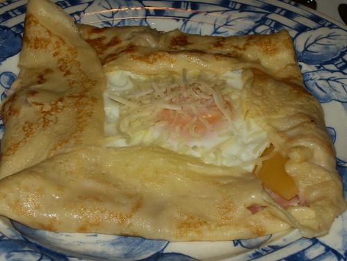 Crepes con huevo