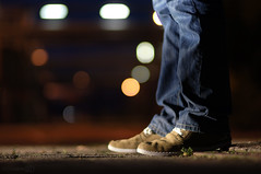 the shoekeh (Dongringo) Tags: light black night shoe focus dof bokeh sony 85mm sigma jeans alpha slt a55 slta55v 85mmf14exdghsm sigma85mmf14exdghsm sonyalphadslta55